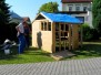 Stavba domečku na dětský den 9.6.2009