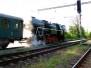 Doplňování vody do parní lokomotivy 2.5.2009