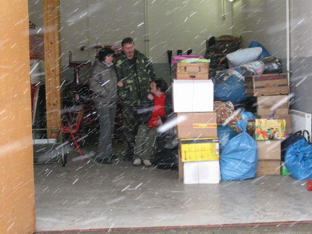 Humanitární sbírka v hasičské zbrojnici